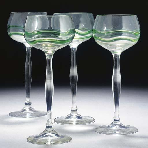 A SET OF TWELVE HOCK GLASSES