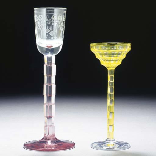 TWO LIQUER GLASSES
