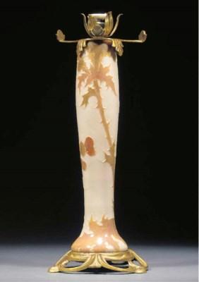 A Legras cameo glass lampbase