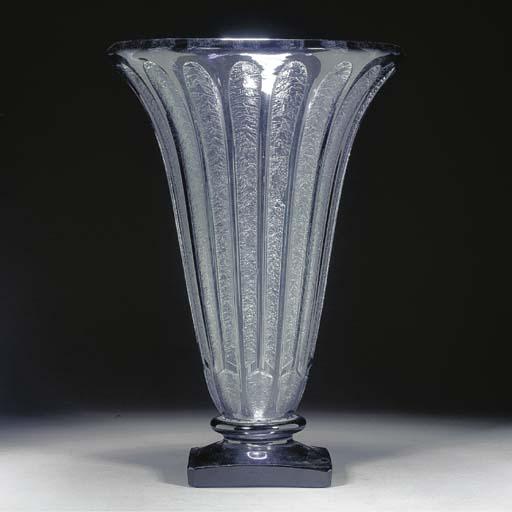 A Daum acid-etched glass vase