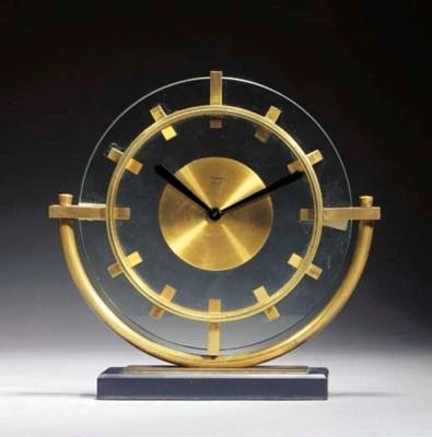 A Bayard Art Deco 8-Day glass,