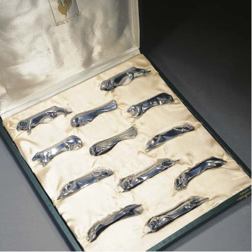 Twelve Gallia silvered metal k