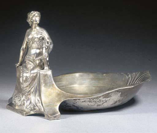A WMF silvered metal figural v