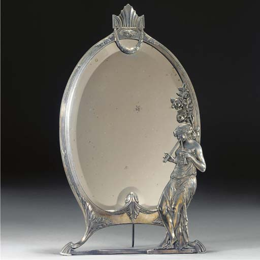 A WMF silvered metal toilet mi