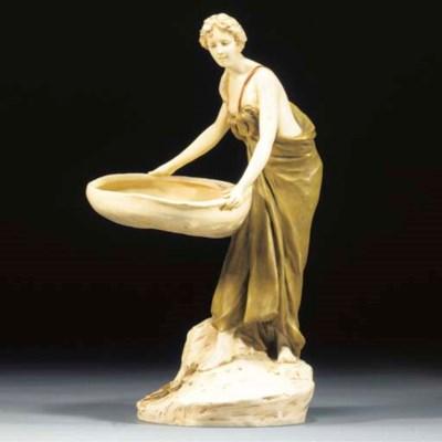 A Royal Dux porcelain figural