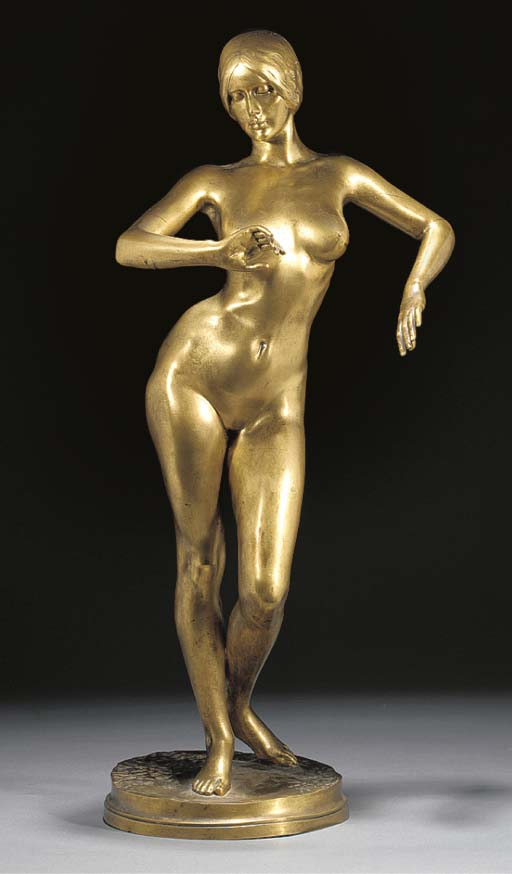 A gilt bronze figure