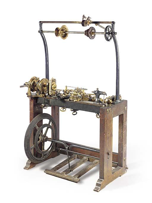 A rose engine turning lathe by