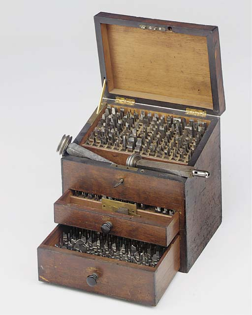 A slope-top mahogany chest of