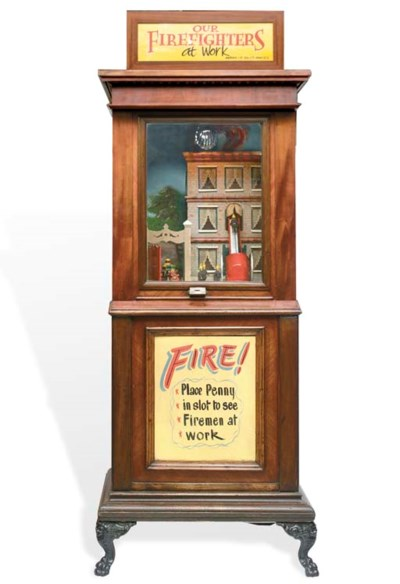 An Ahrens 'Fire Fighters' work