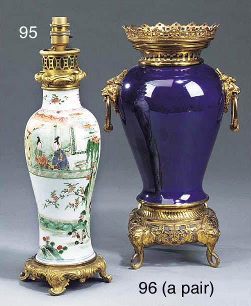 A Chinese 'famille verte' porcelain vase