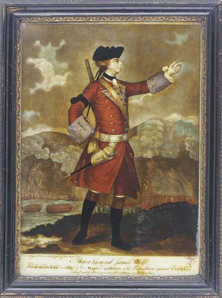 A George III mezzotint under glass