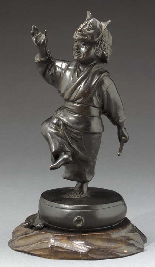 A bronze model of a dancing bo