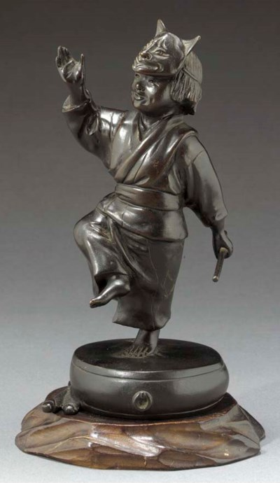 A bronze model of a dancing bo