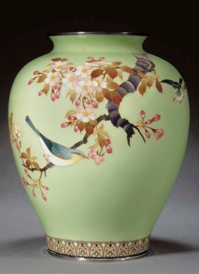 A cloisonne oviform vase 19th