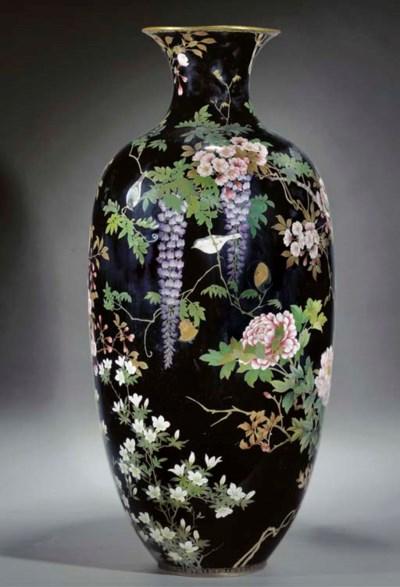 A large cloisonne vase 19th Ce
