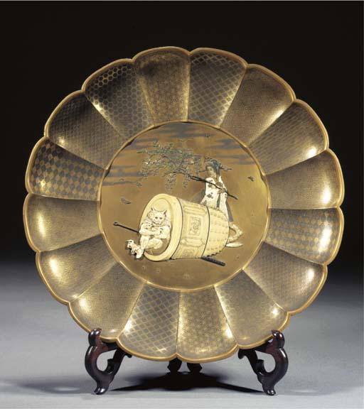 A gold lacquer and shibayama-s