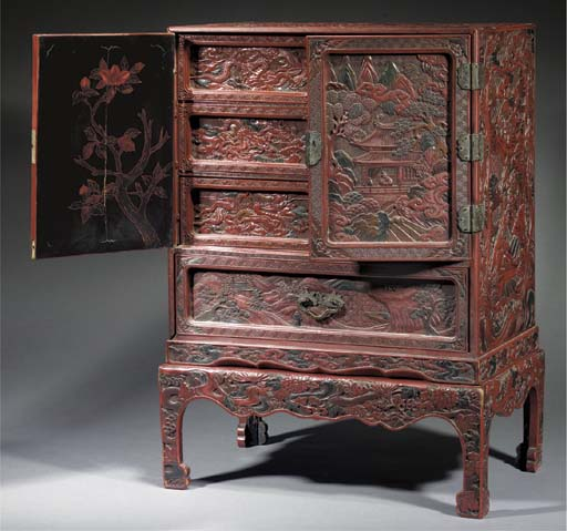 A lacquer cabinet on stand Lat