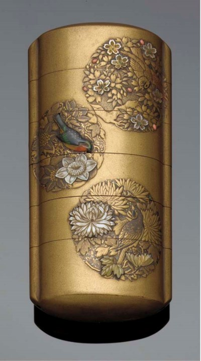 A lacquer and mother of pearl