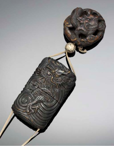 A one-case wooden inro 19th ce