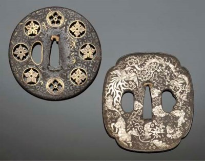 Two iron tsuba Edo Period