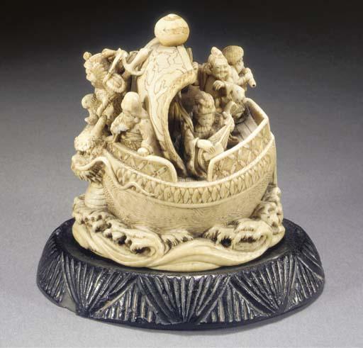 An ivory okimono of the Takara