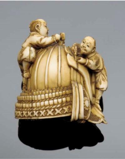 An ivory netsuke 19th century