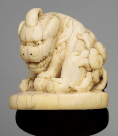 An ivory netsuke of a kylin 18