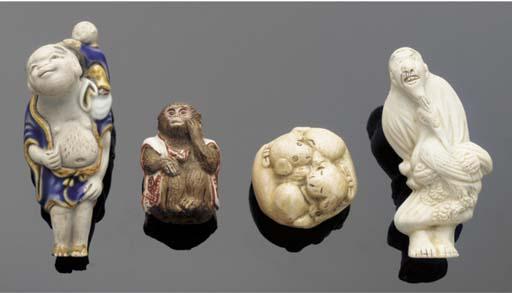 Ten various porcelain and wood