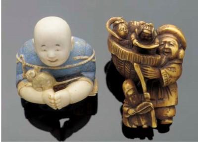 An ivory netsuke of Daikoku 19