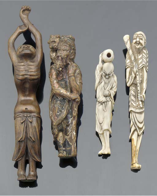 Four various netsuke 18th and
