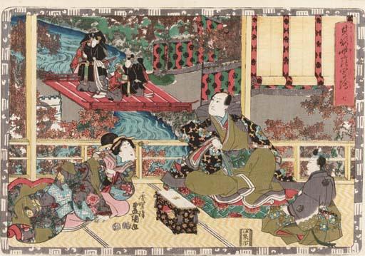 Toyokuni III, oban yoko-e