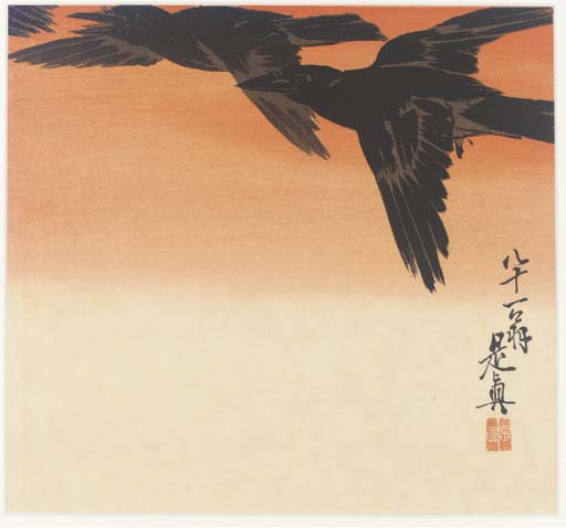 Shibata Zeshin (1807-91) 'Crow