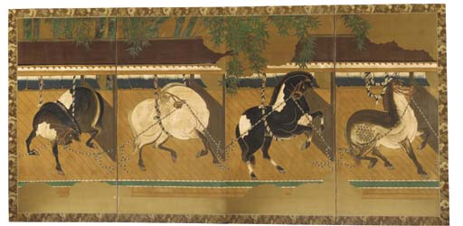 A Japanese four fold screen19t