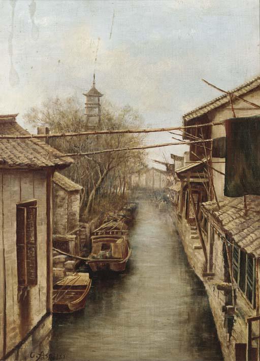 Chiu Asai, (1856-1907) Oil on