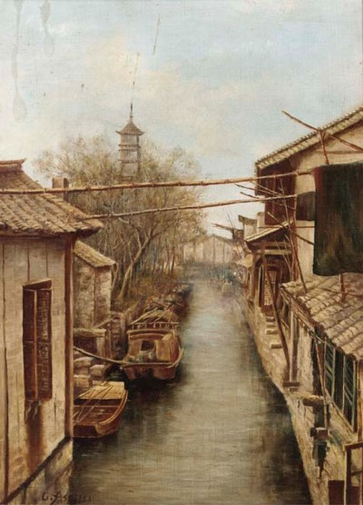 Chiu Asai, (1856-1907) Oil on
