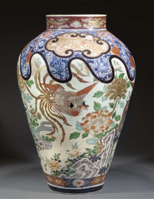 A large Arita tapering jar 18t