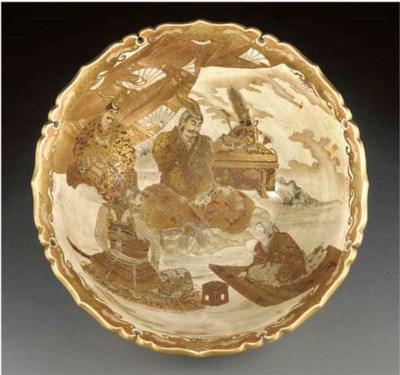 A large Satsuma bowl Late 19th