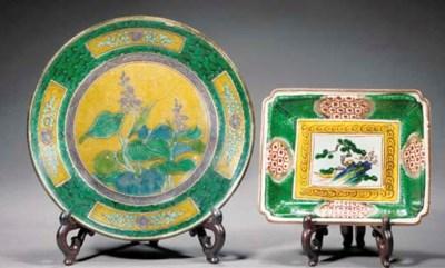 A Kutani plate 19th century