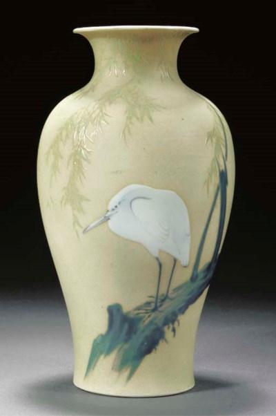 A baluster form vase Meiji Per