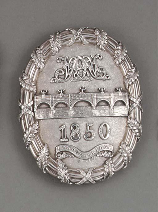 A Rare Victorian Silver Arm Ba