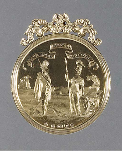 A Scottish Silver-Gilt Medal