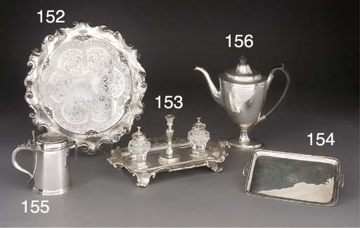 A Victorian Silver Inkstand