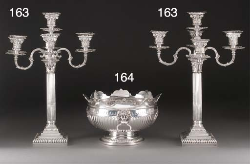 A Pair of George V Silver Five