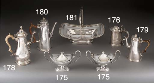A George III silver cake baske
