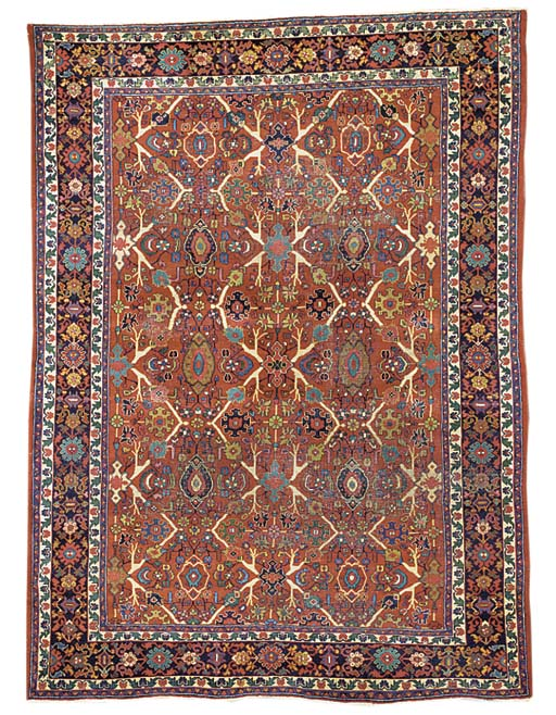 An antique Mahal carpet, West Persia