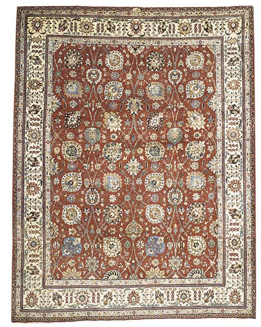 A fine Khajabi Tabriz carpet,