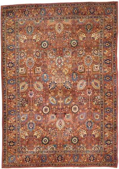 An antique Khoy Tabriz carpet,
