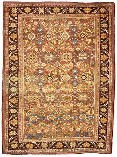 An antique Mahal carpet, West
