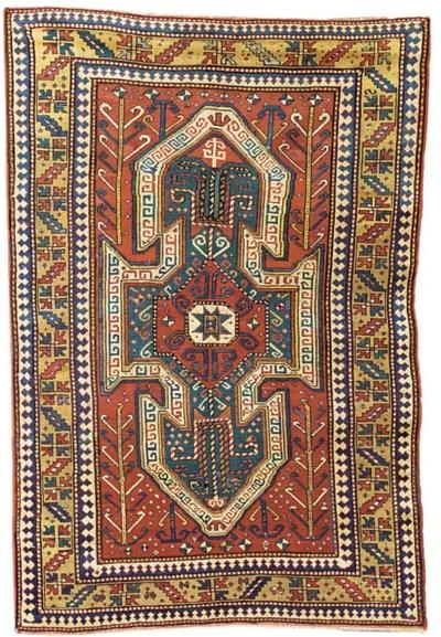An antique Sewan Kazak rug, So