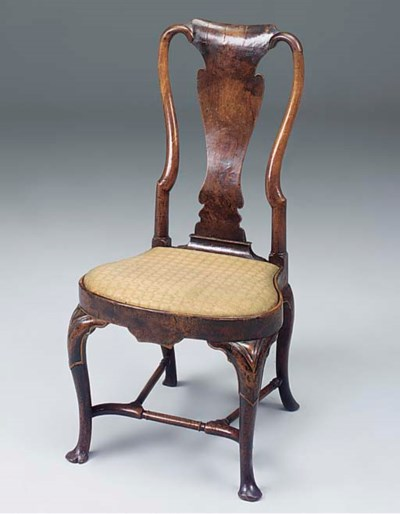 A QUEEN ANNE WALNUT CHAIR